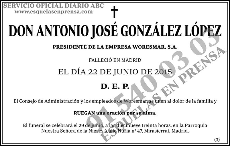 Antonio José González López